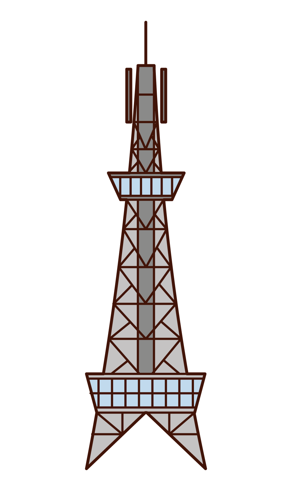 Illustration of Nagoya TV Tower
