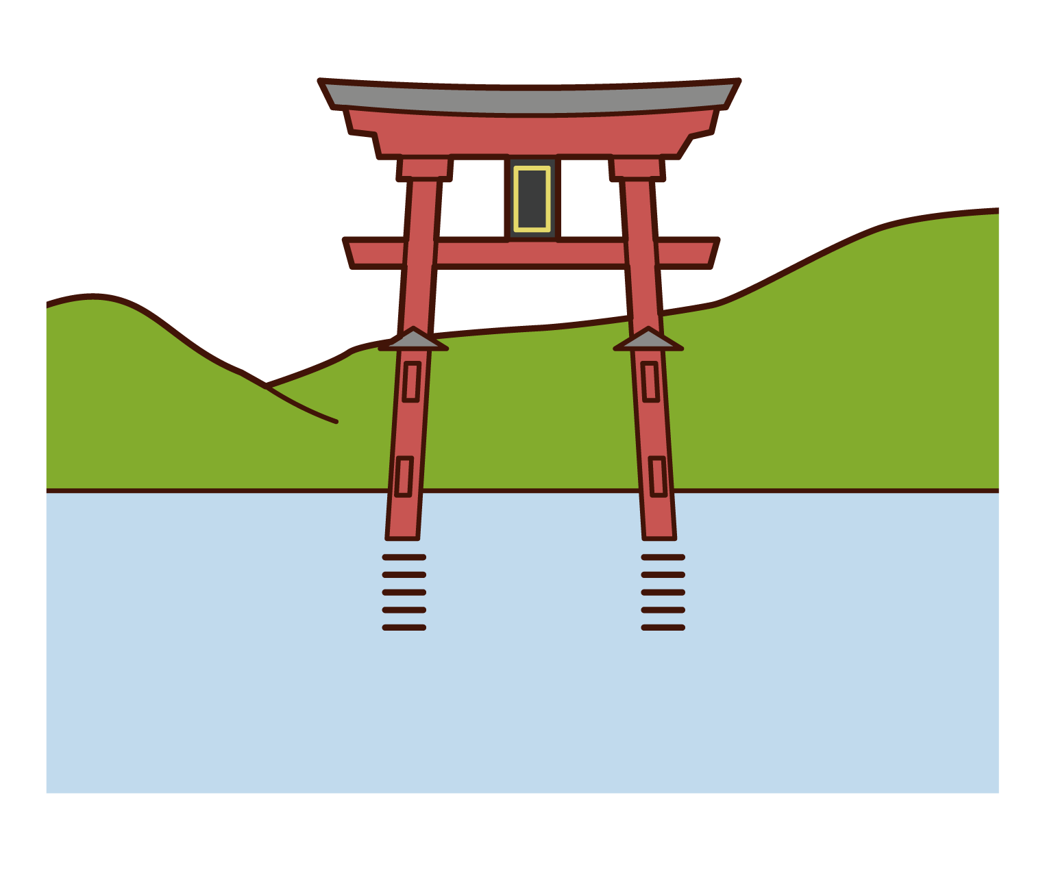 Illustration of Itsukushima Shrine