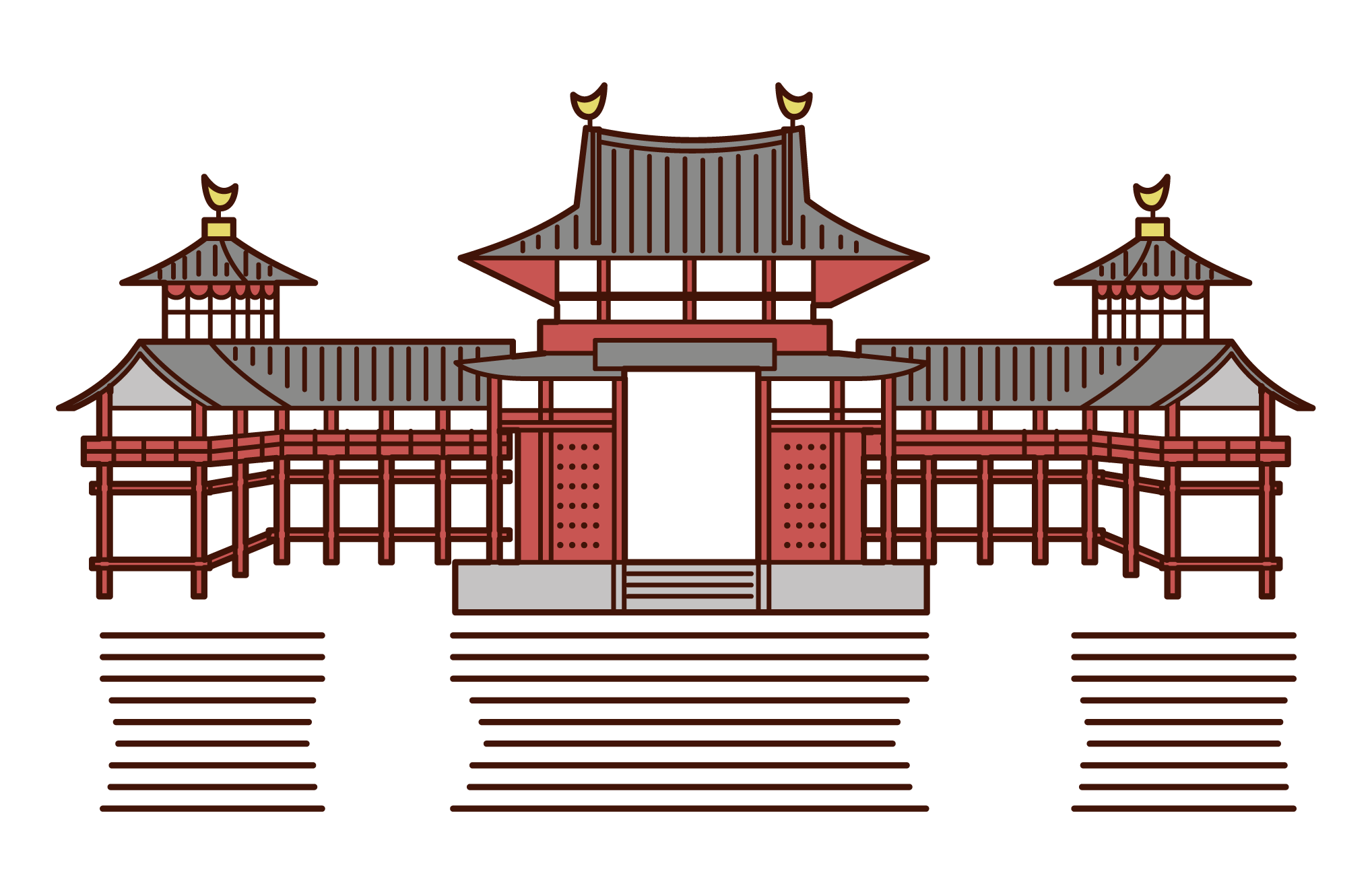 Illustration of Byodoin Phoenix Hall