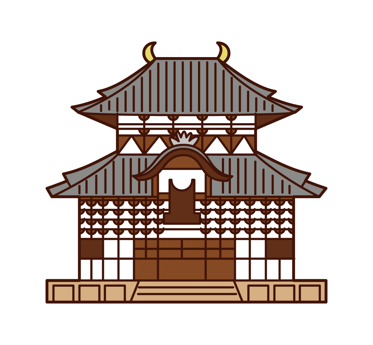 Illustration of Todaiji Temple