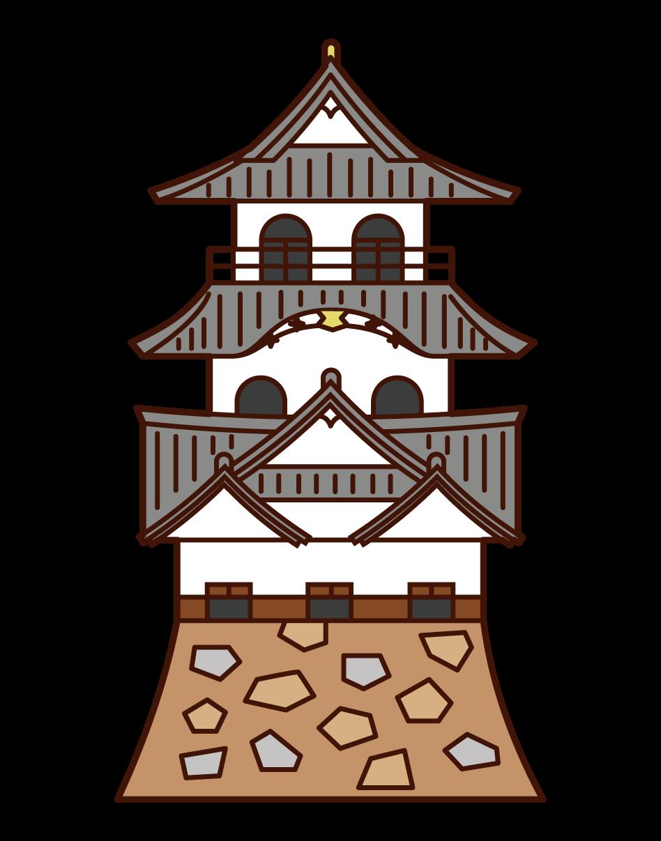 彦根城のイラスト