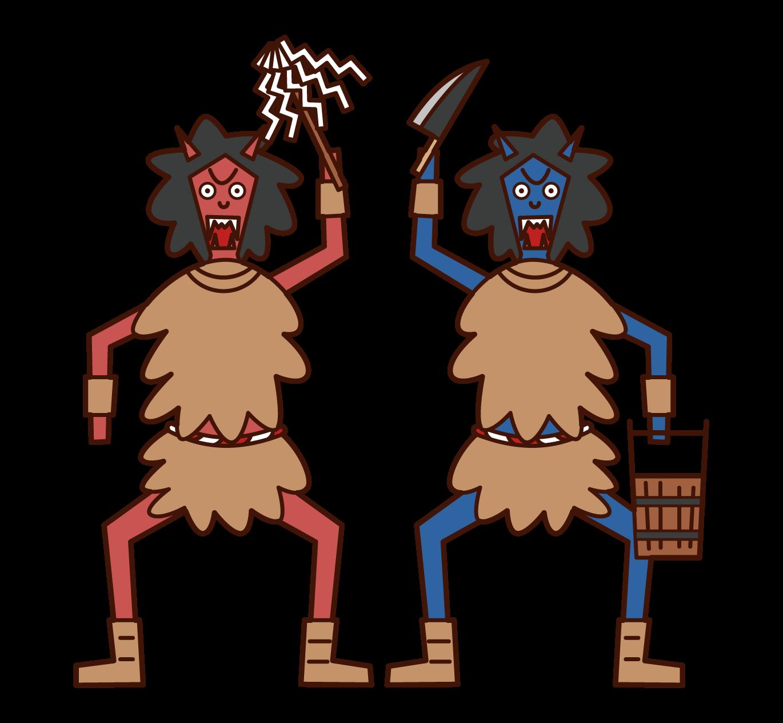 Illustration of Namahage