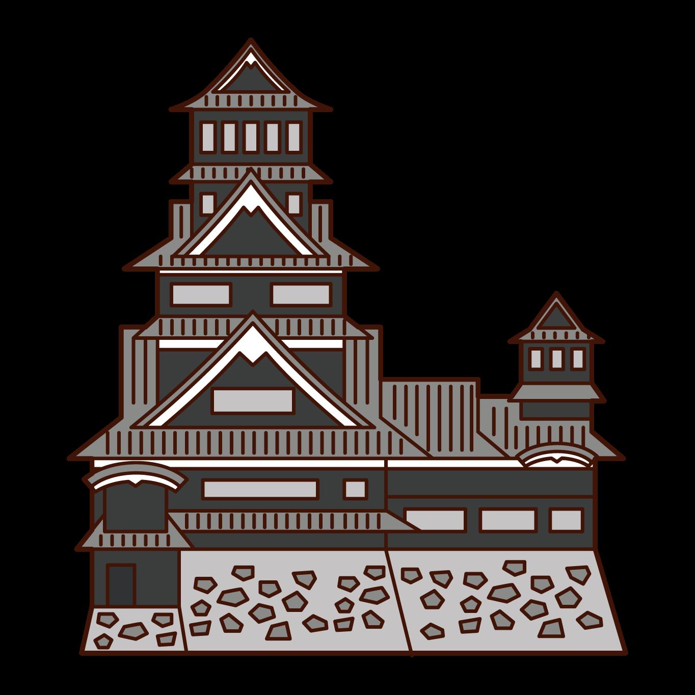 Illustration of Kumamoto Castle