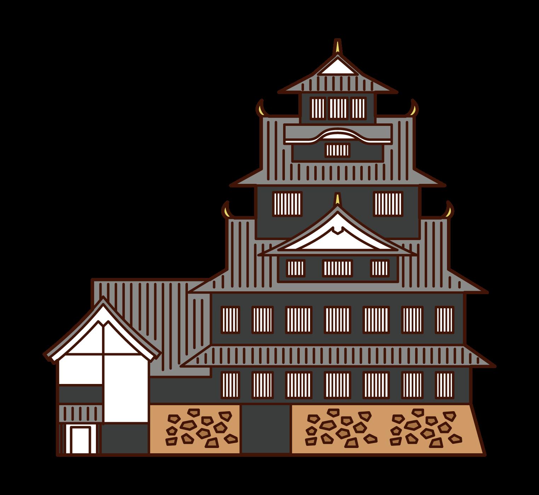 오카야마 성 그림