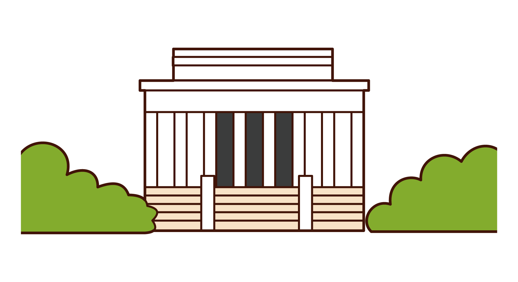 Illustration of Lincoln Memorial