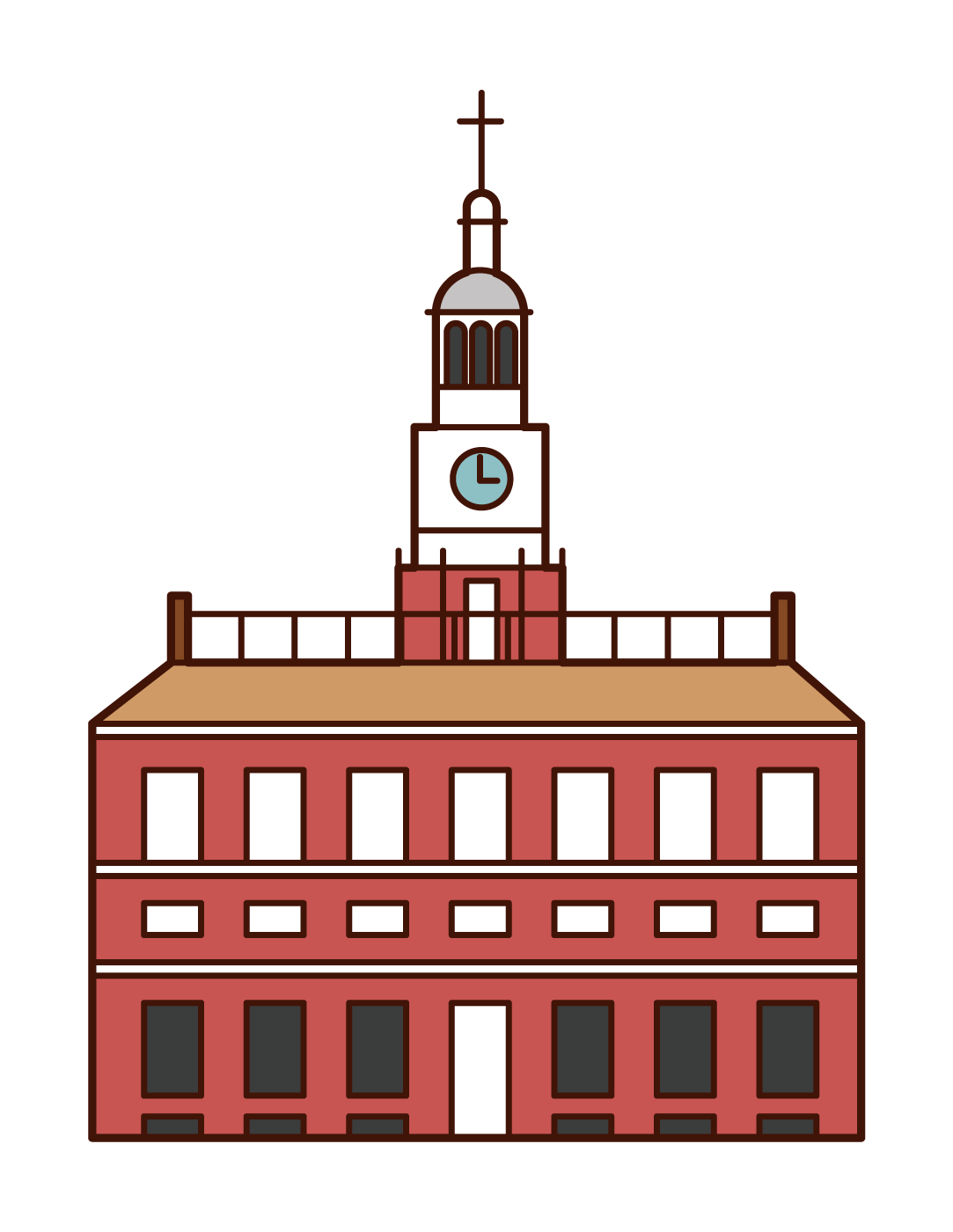Illustration of Independence Hall