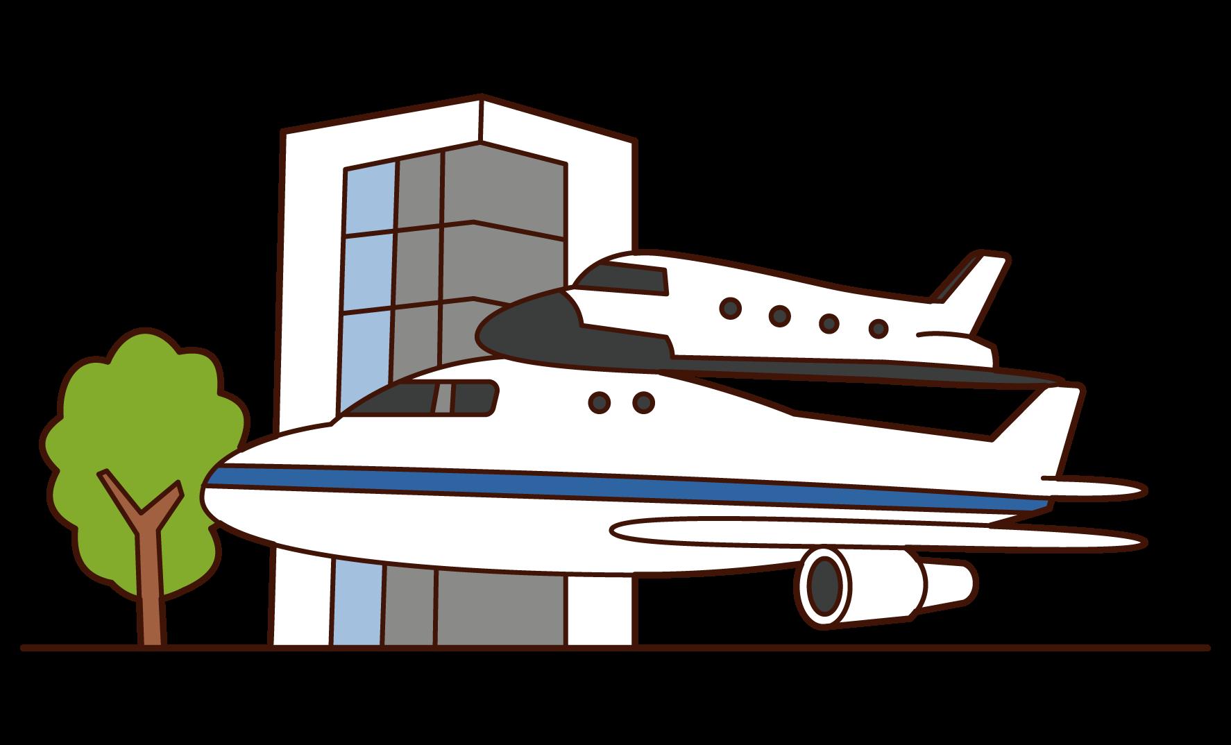 NASAジョンソン宇宙センターのイラスト
