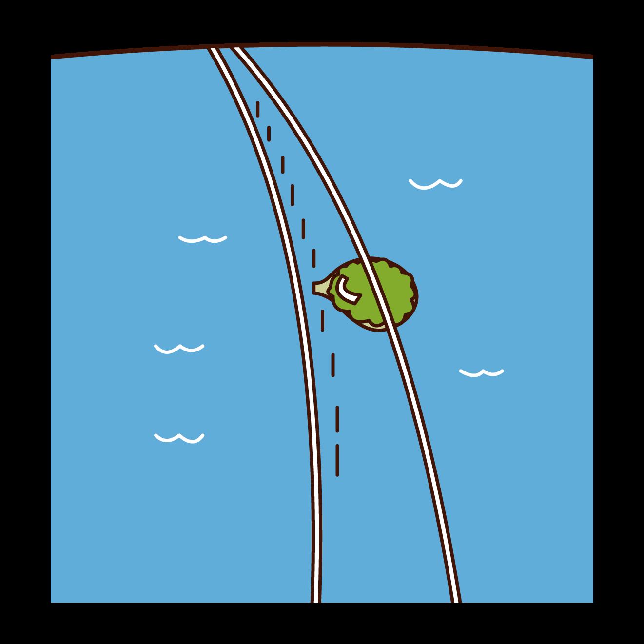 Key West's Seven Mile Bridge Illustration