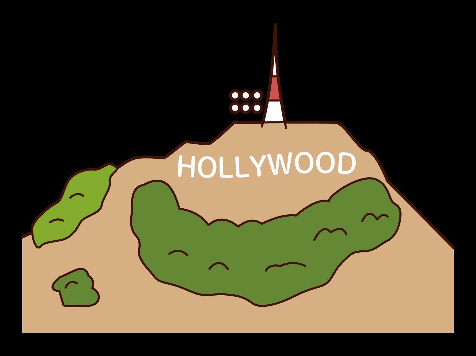 ハリウッドのイラスト