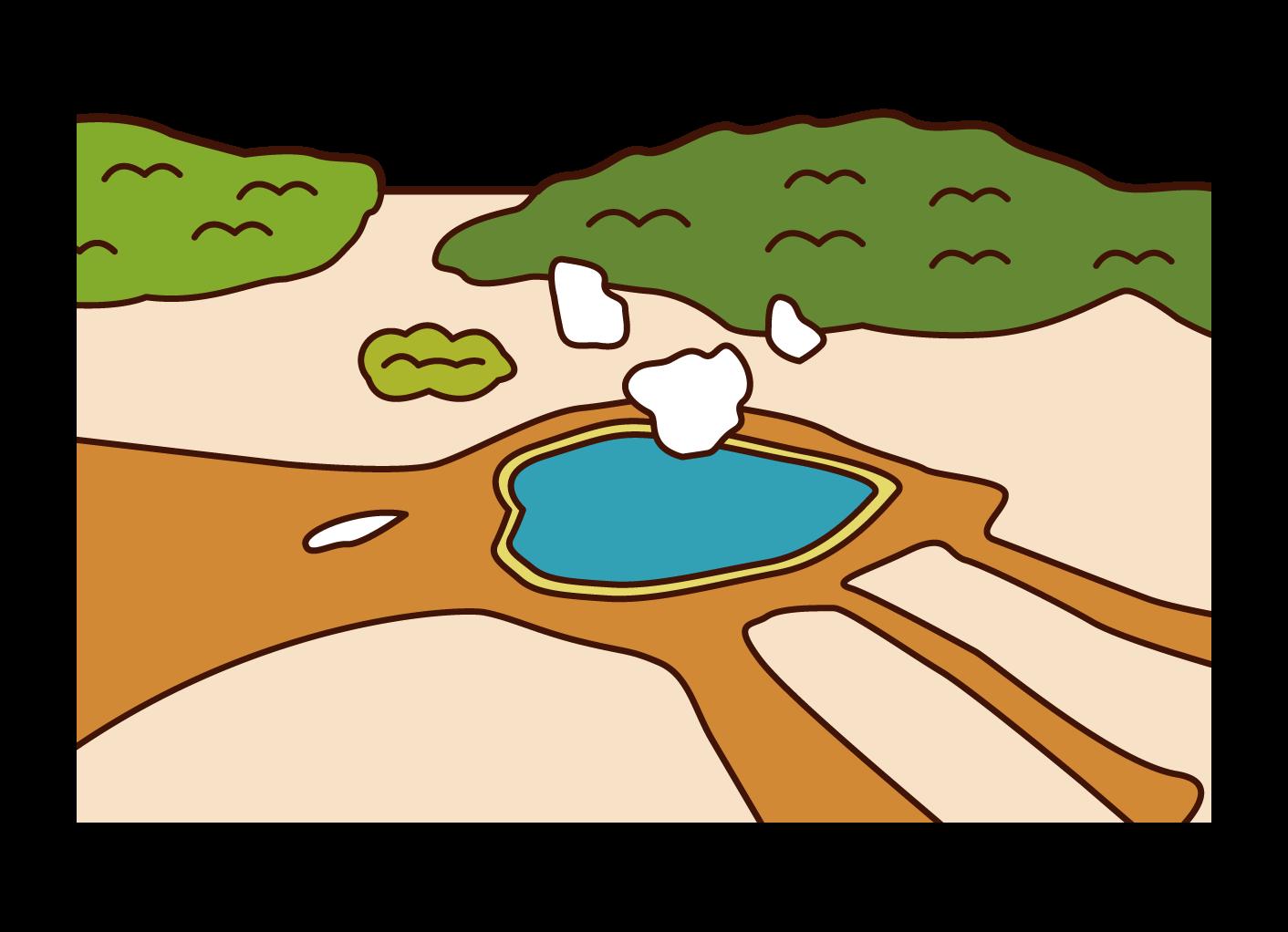 옐로스톤 국립공원 일러스트레이션