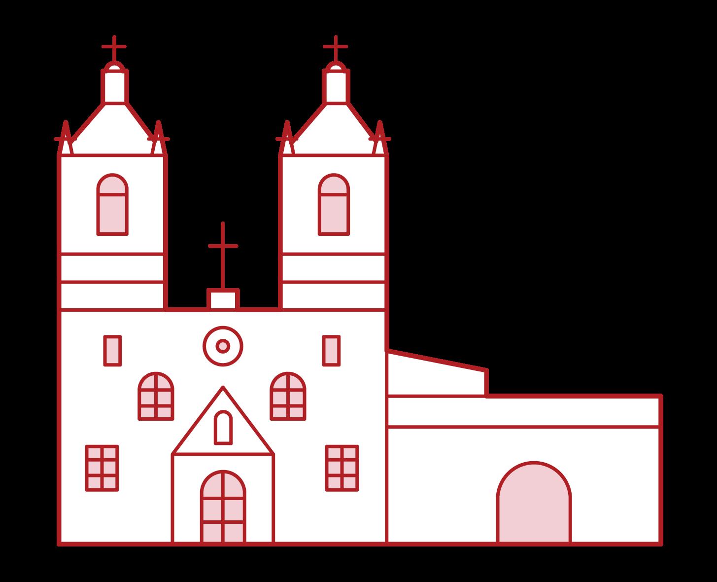 聖安東尼奧傳教設施插圖