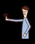 Illustration of a beckoner (male)