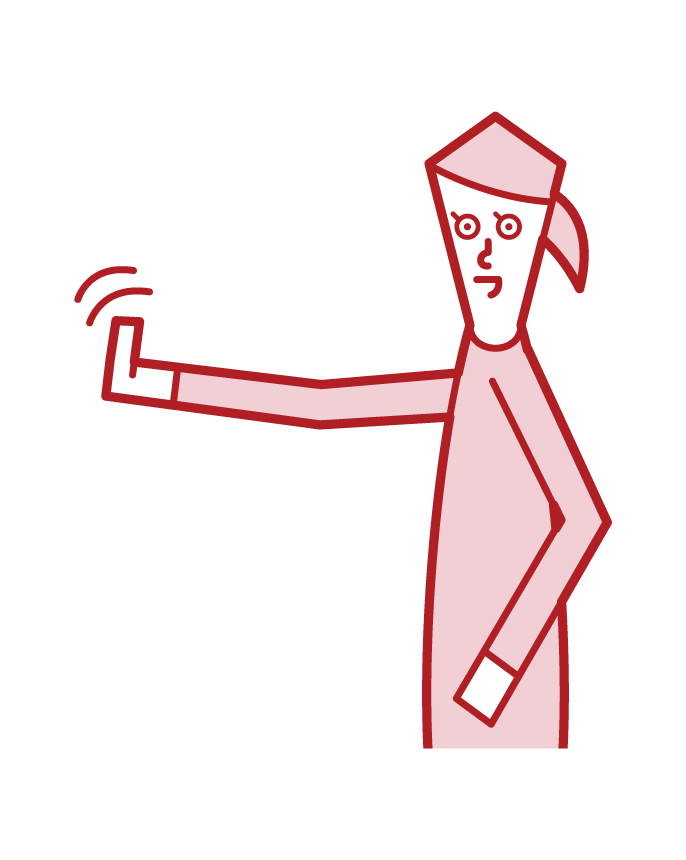 손짓 (여성)의 삽화