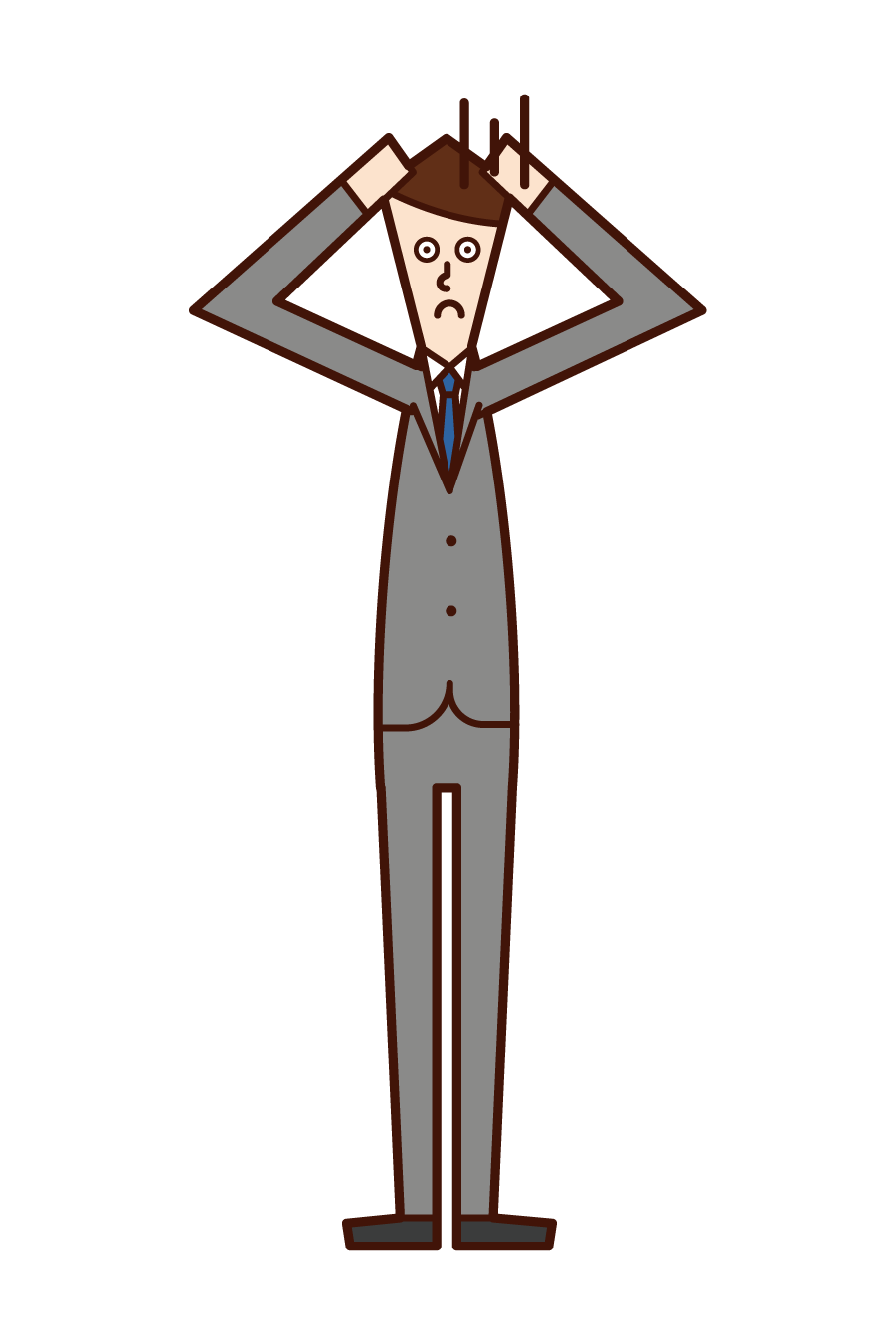 Illustration of a person (woman) posing for a restructuring