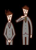 リストラを宣告する人(男性)のイラスト