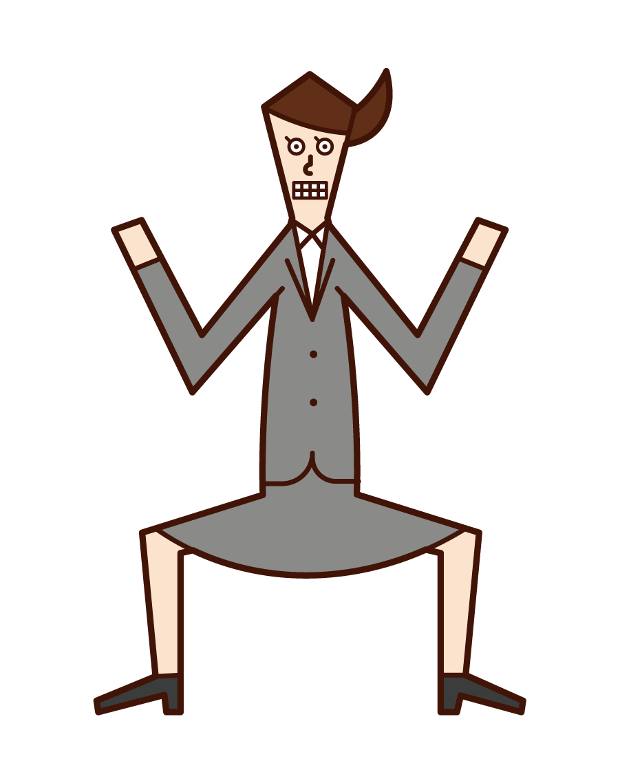 Illustration of a motivated person (woman)