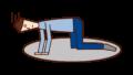 膝をついて絶望する人(男性)のイラスト