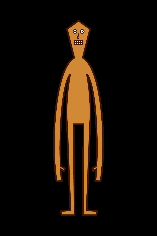 宇宙人のイラスト