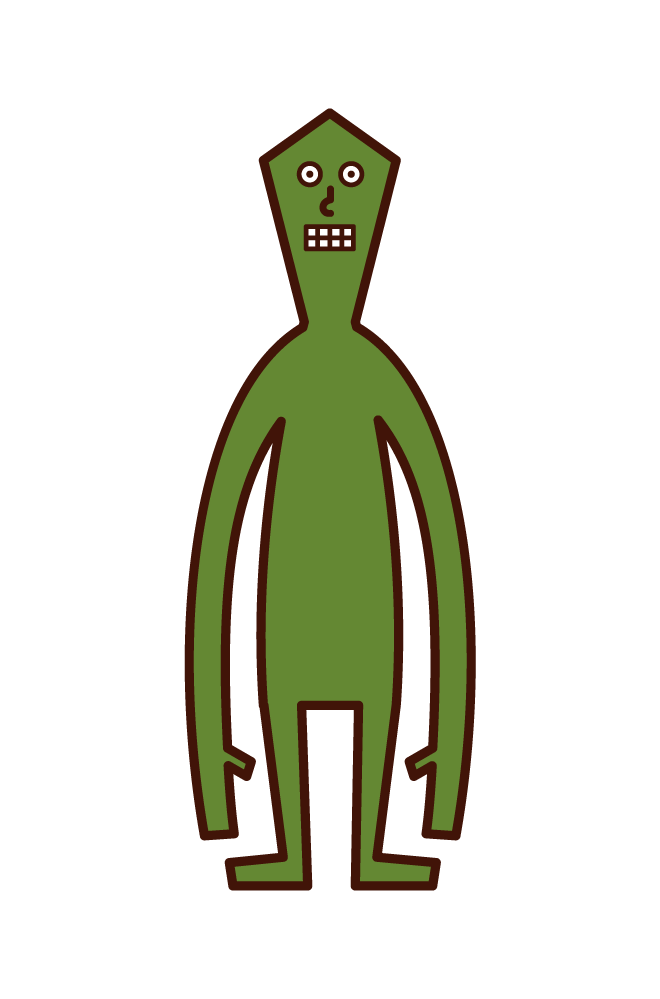小さい宇宙人のイラスト