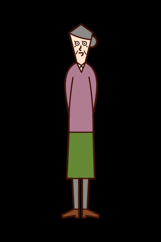 부드러운 노인의 일러스트 (남성)