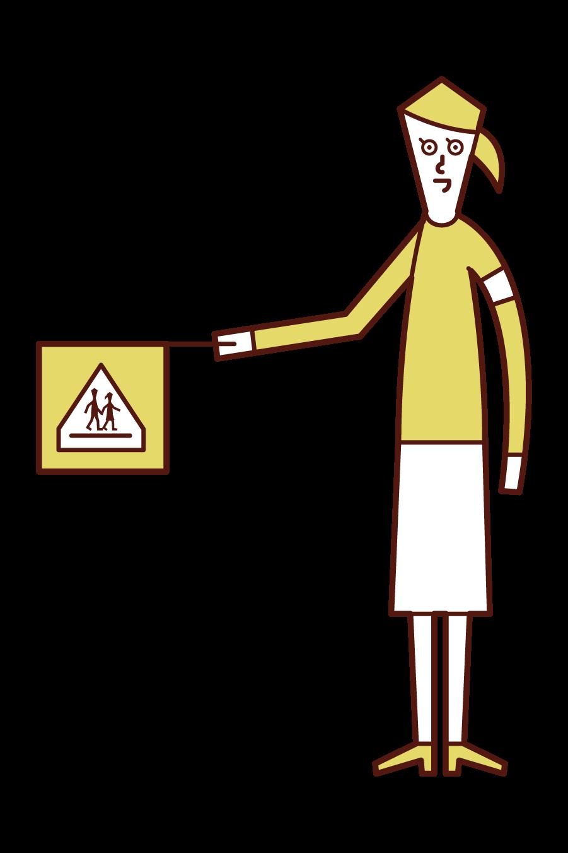 学童擁護員(女性)のイラスト