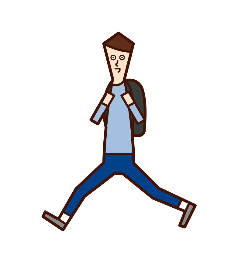 Illustration of a running child (boy)