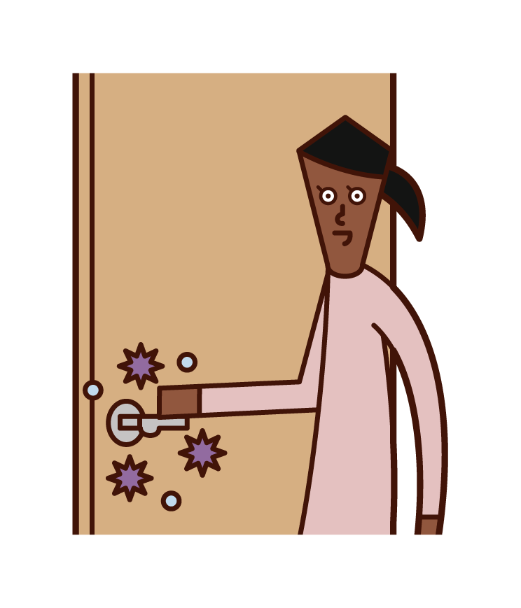 Illustration of virus infection (woman) from things