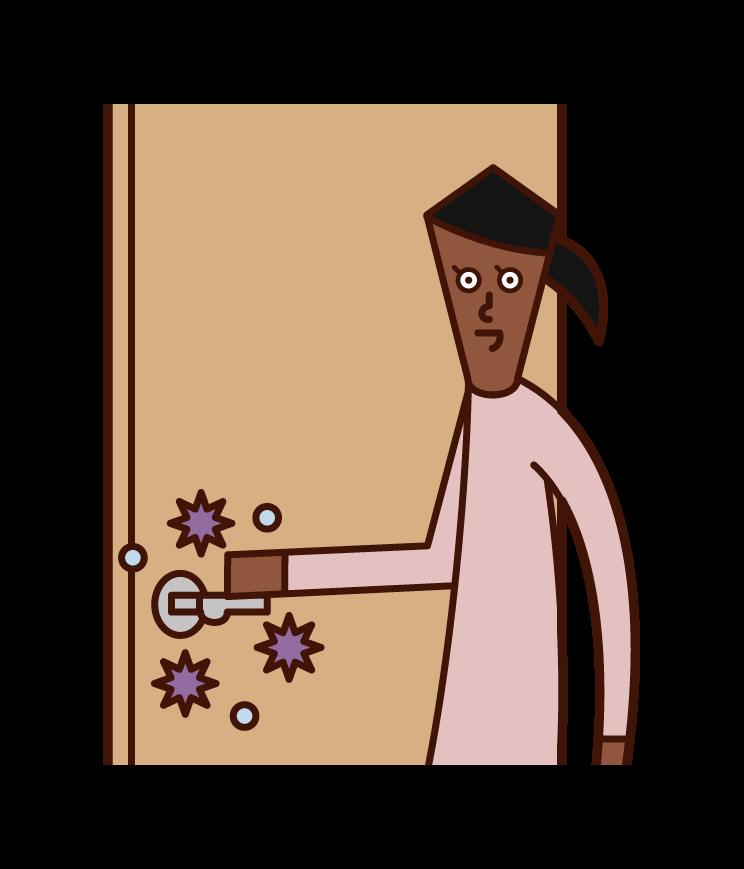 病毒感染(女性)插圖