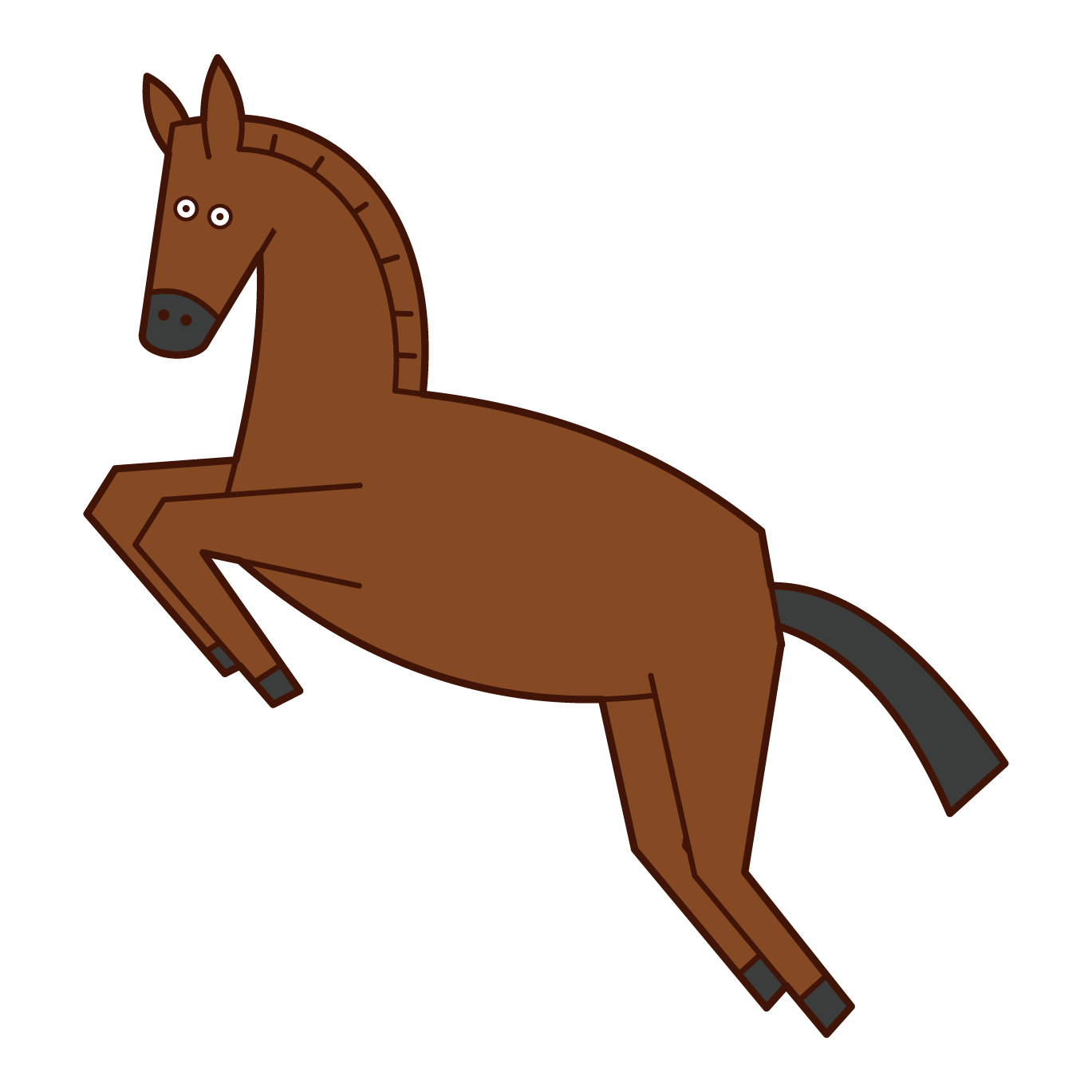 Illustration of a horse jumping