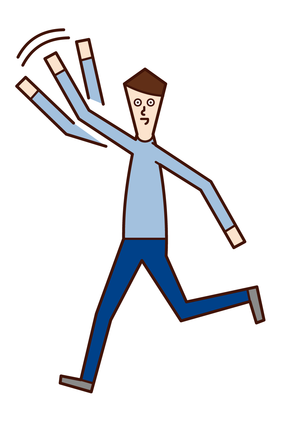 Illustration of a man waving his hand