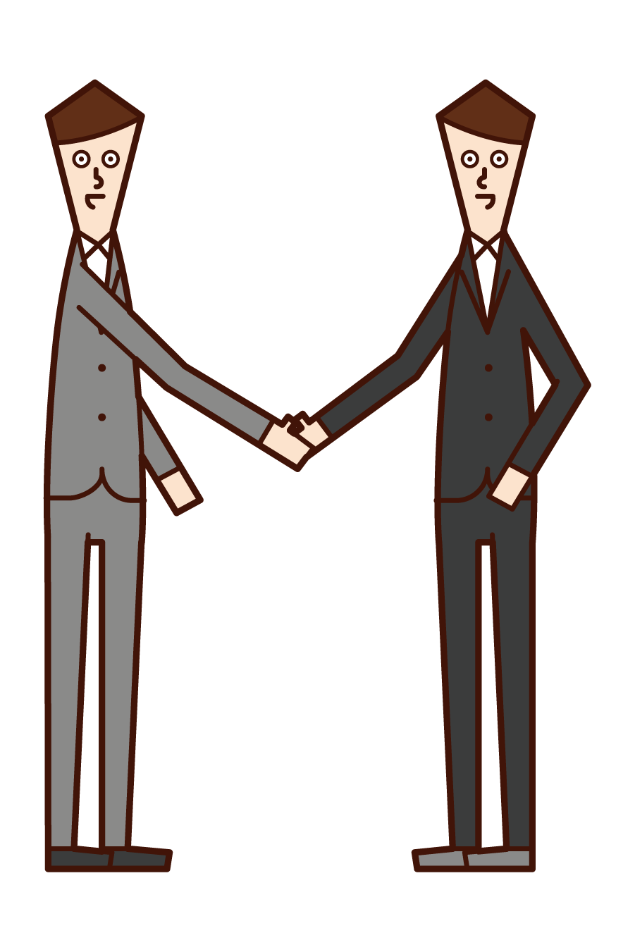 Illustration of a man shaking hands