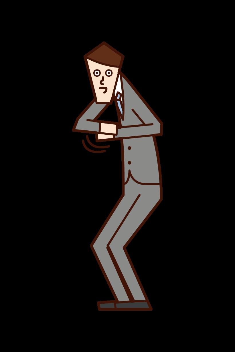 賣壯陽的人(男性)的插圖