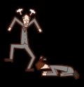怒る上司に土下座する人(男性)のイラスト