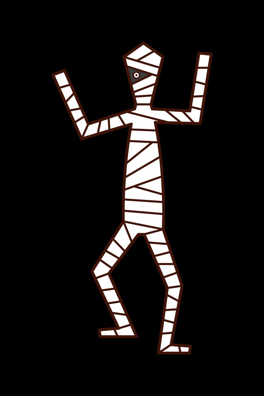 대머리, 긴 머리 남자의 그림