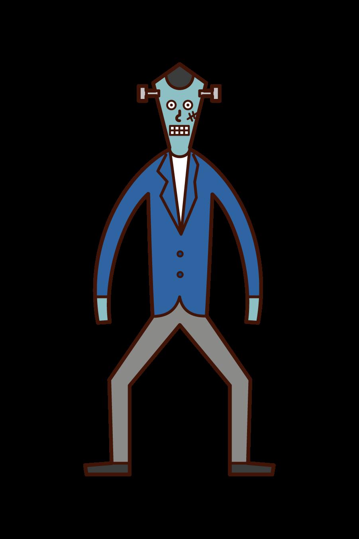 Frankenstein (Halloween) Illustration