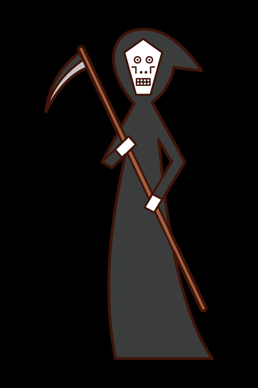 死神(ハロウィン)のイラスト