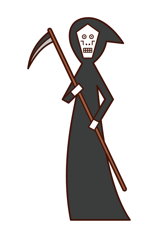 Illustration of The God of Death (Halloween)