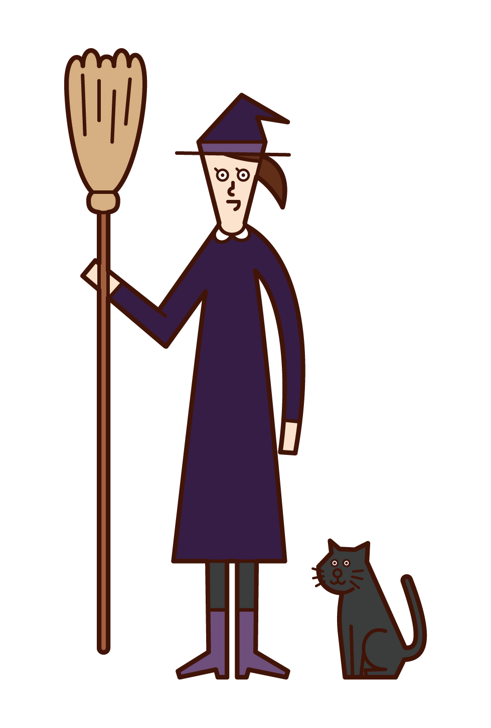 Illustration of the Witch (Halloween)