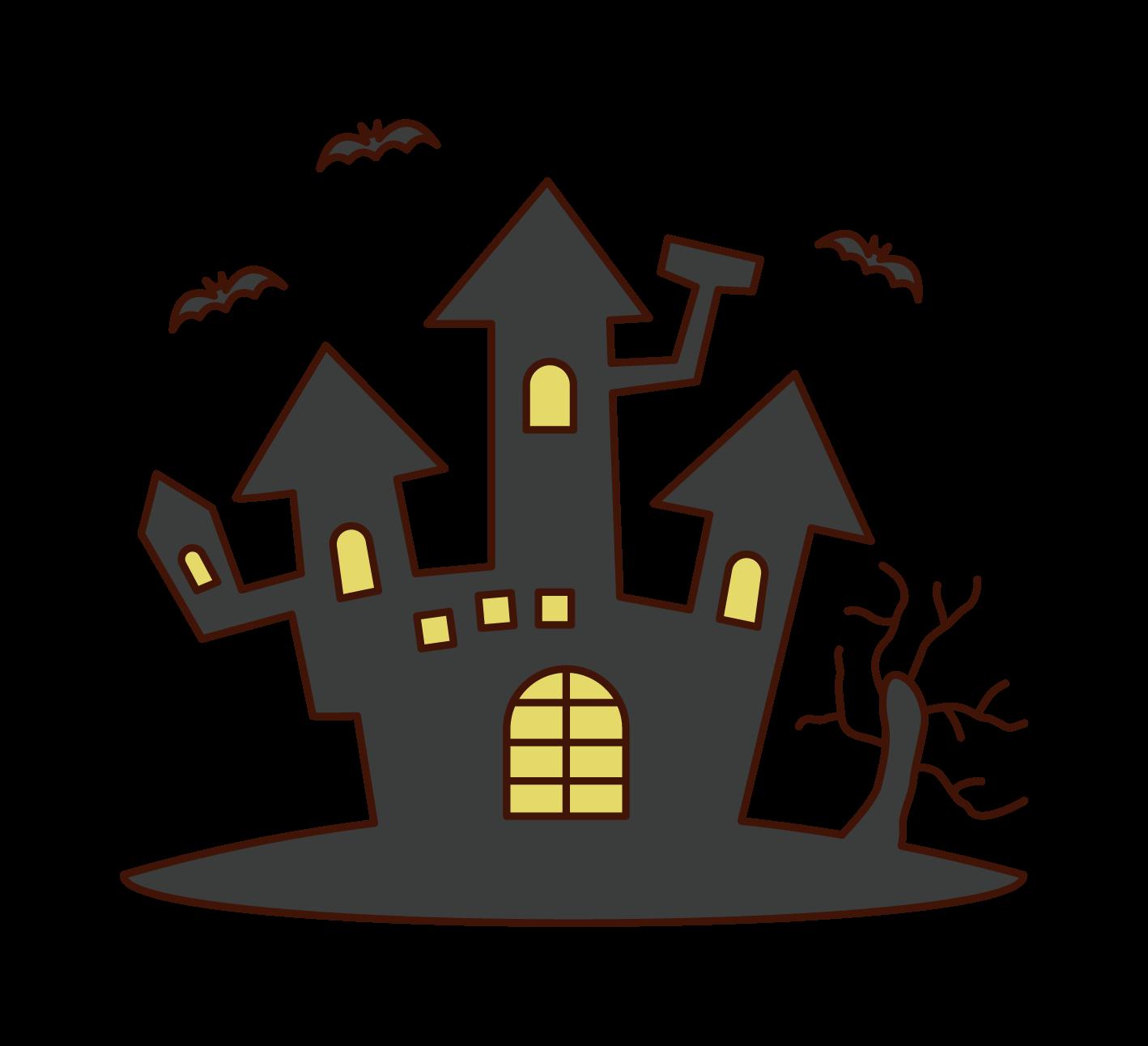 悪魔の城(ハロウィン)のイラスト