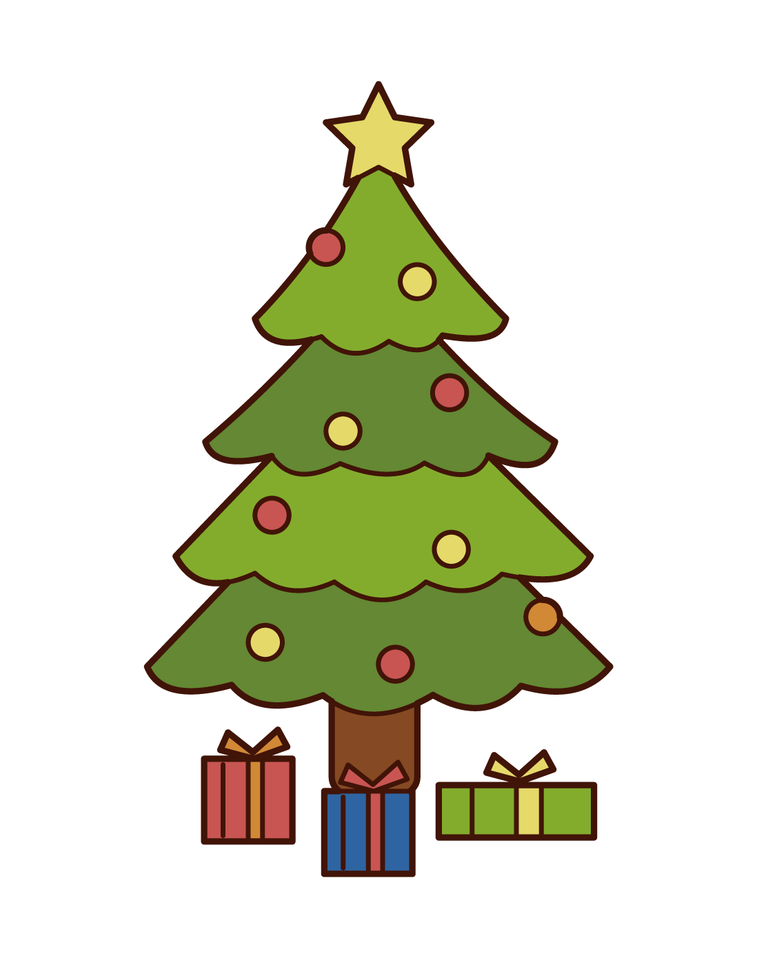 Illustrations of Christmas trees