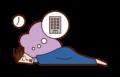 朝が弱い人(男性)のイラスト