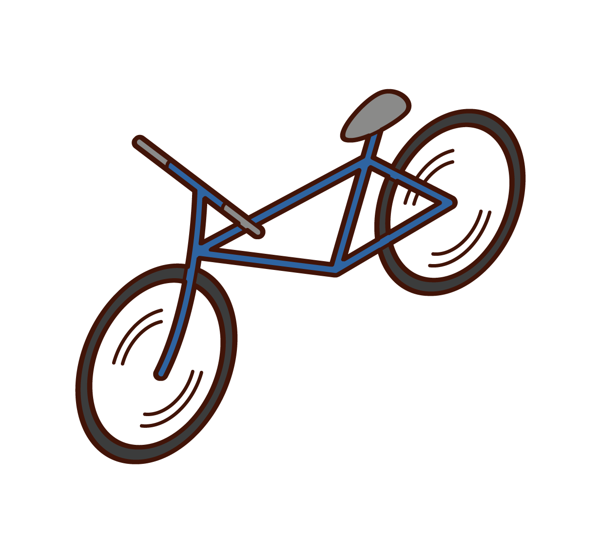 Illustration of a bicycle (cross bike)