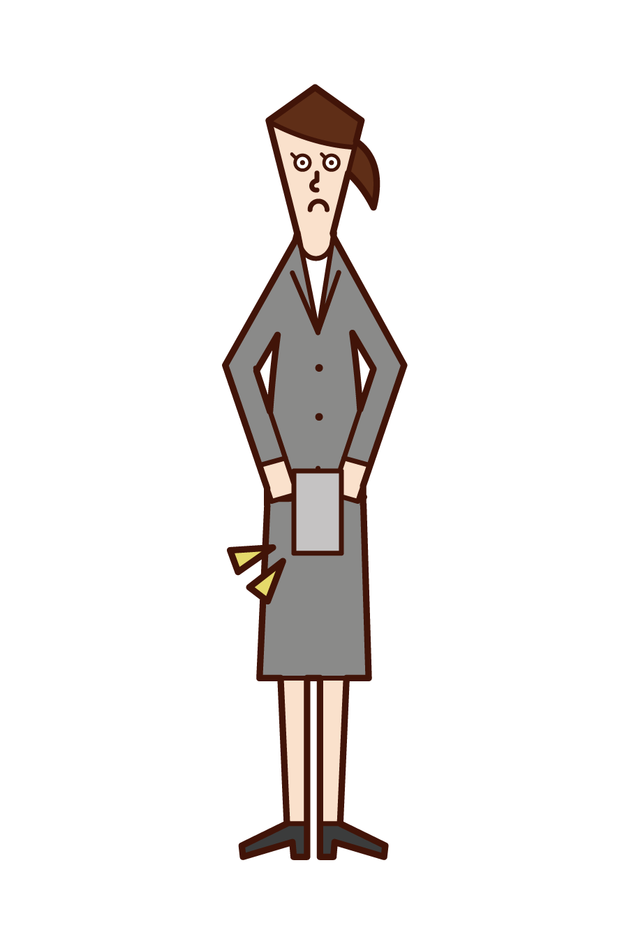 Illustration of the person (woman) who submits her resignation