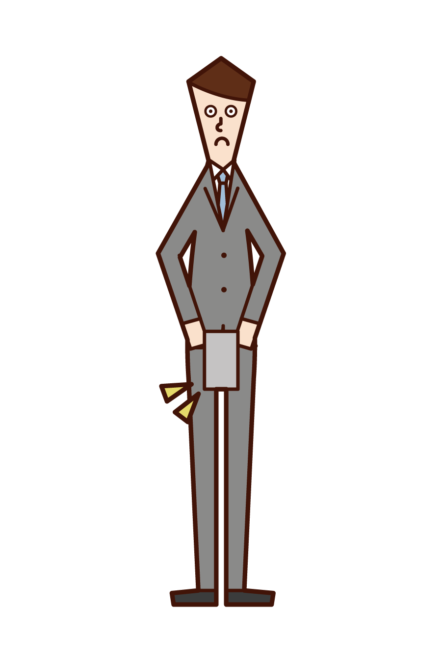 Illustration of the person (male) who submits his resignation