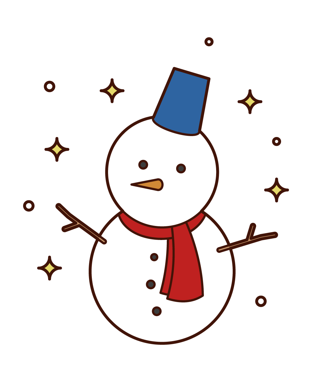 Illustration of a Snowman