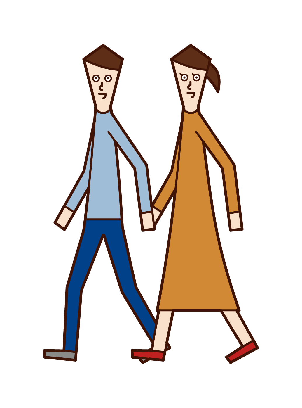 Illustration of a couple dating