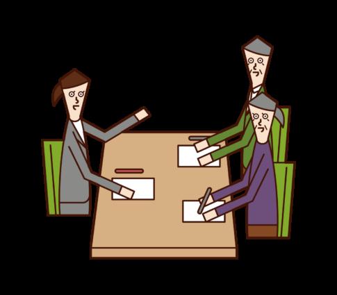 客戶服務和諮詢插圖