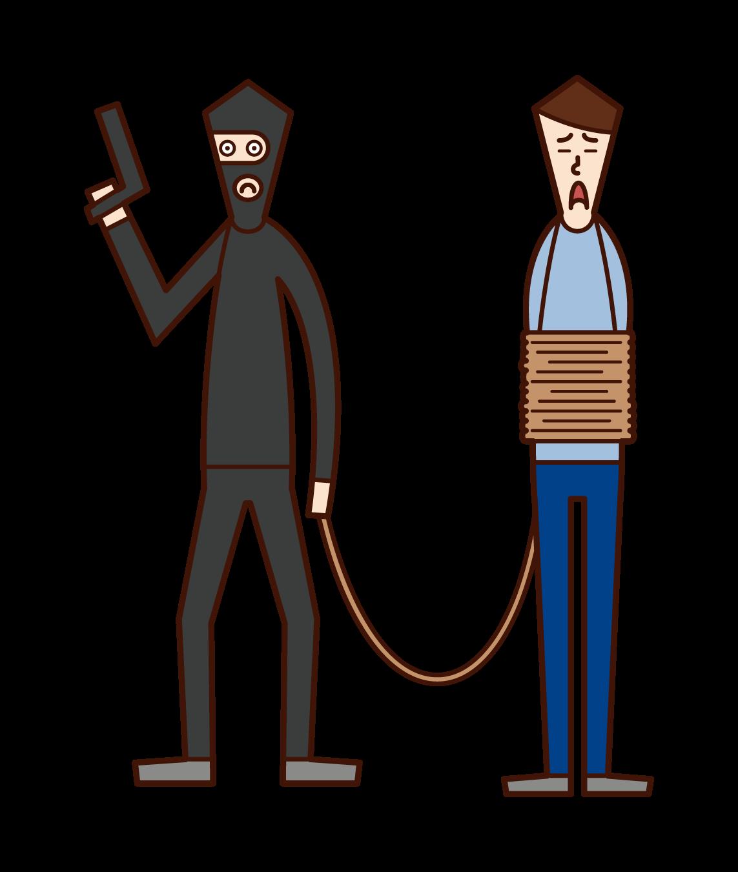 人質(男性)のイラスト