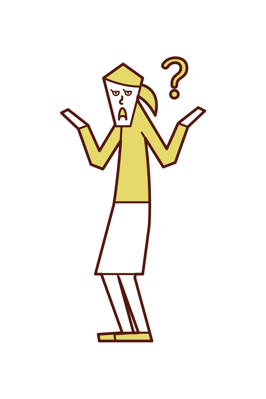 Illustration of a mysterious person (female)