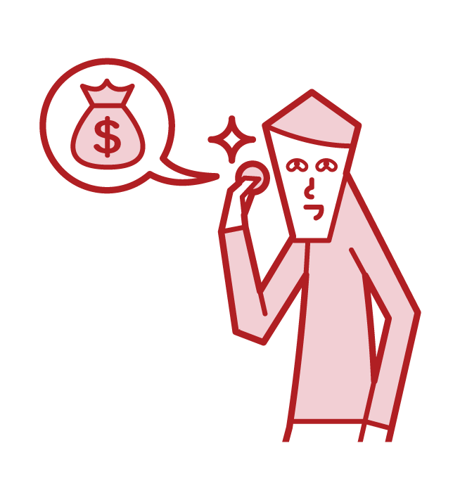Illustration of a change man (male)
